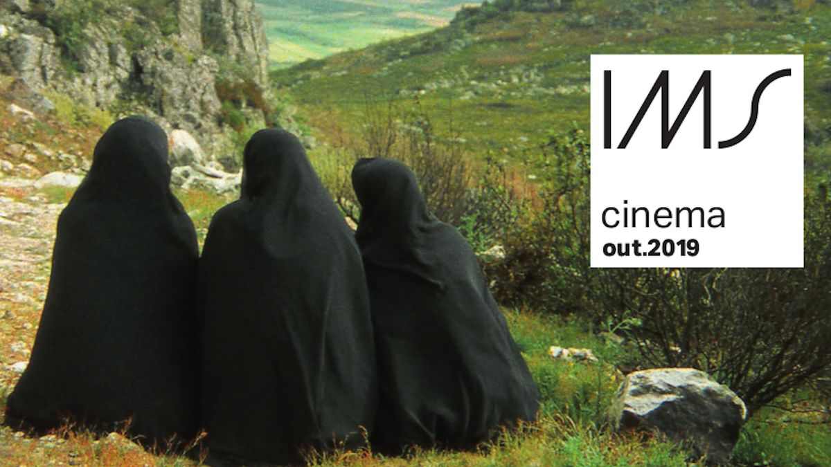 Capa da revista de programação do Cinema do IMS Rio, outubro de 2019