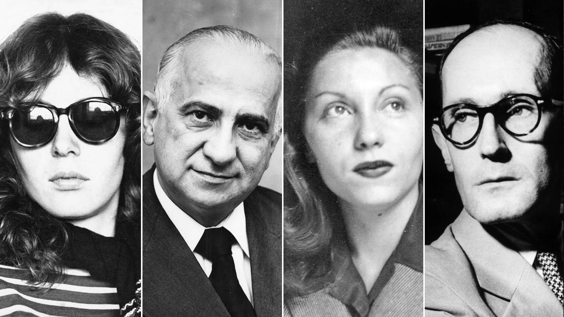 Ana Cristina Cesar, Otto Lara Resende, Clarice Lispector e Carlos Drummond de Andrade