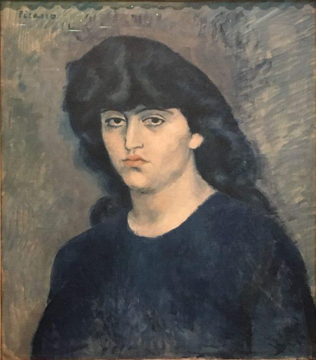 <em>Retrato de Suzanne Bloch</em>, Pablo Picasso, 1904. Doado em 1947 por Walther Moreira Salles