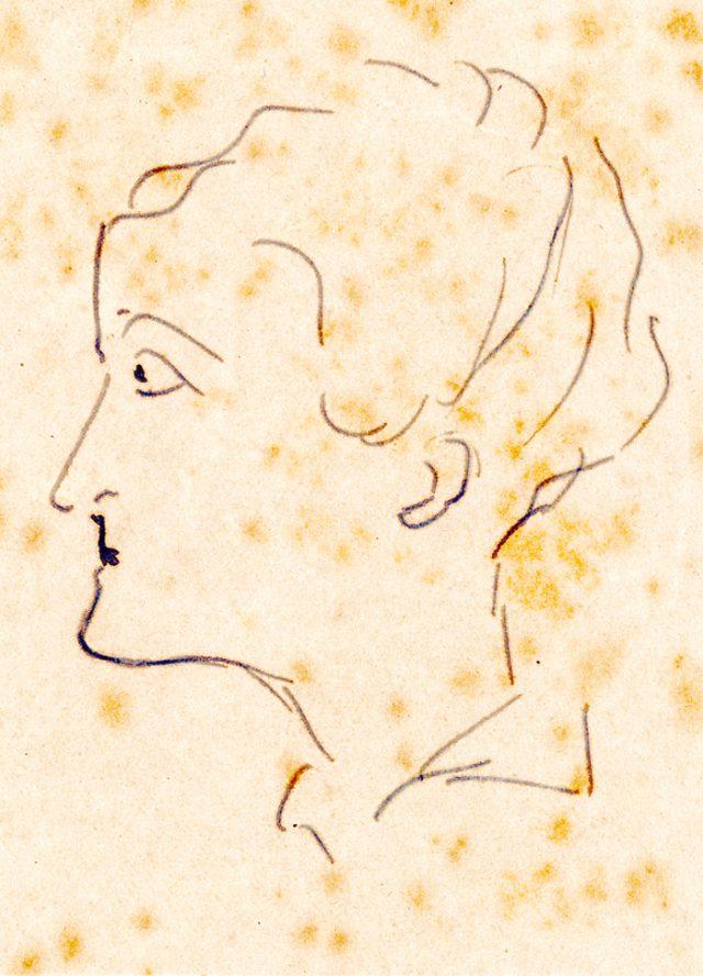 Retrato de Maria Julieta produzido por Carlos Drummond de Andrade em 1945