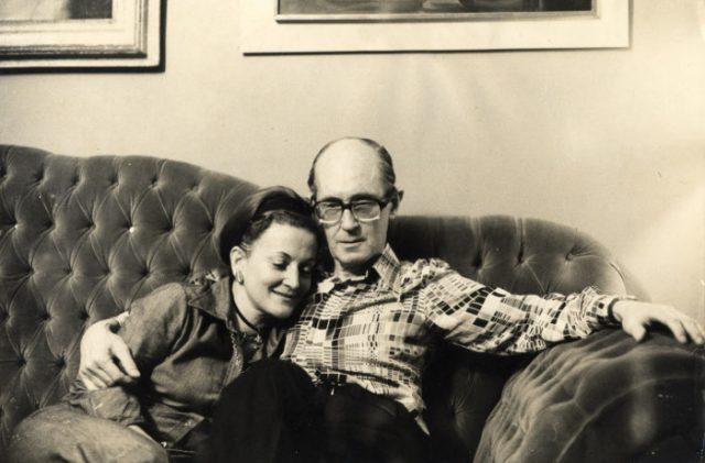 Maria Julieta e Carlos Drummond de Andrade em 1972