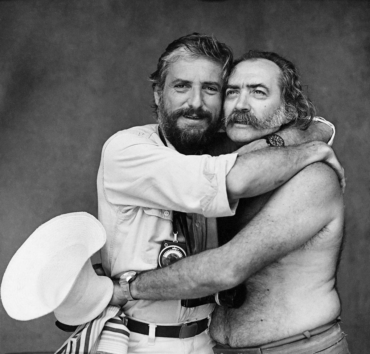 Otto Stupakoff e Mario Cravo Júnior, c. 1980. Foto de Mario Cravo Neto/ Acervo IMS