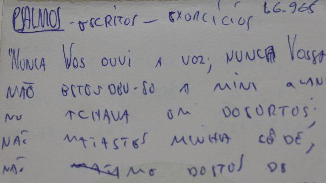 Trecho de anotações de Ivan Lessa para supostos salmos. Arquivo Ivan Lessa / Acervo IMS