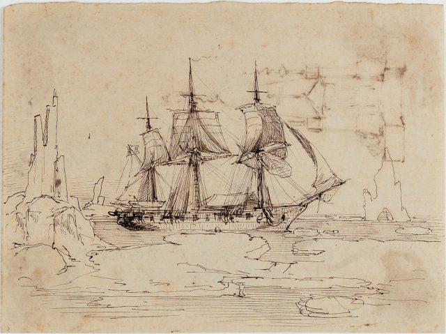 Belonave, 1871. Desenho de Edoardo de Martino / Acervo IMS