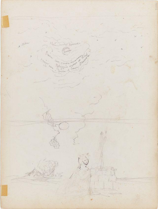 Verso de Dopo la Battaglia, c.1869-1876. Desenho de Edoardo de Martino / Acervo IMS