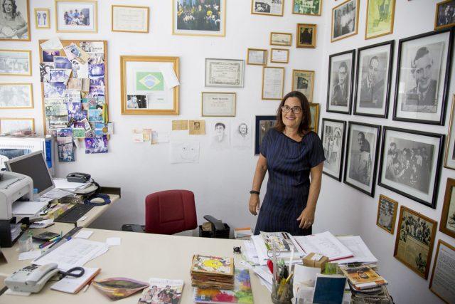 Lilian Barg, filha do colecionador e pesquisador Leon Barg. Arquivo Leon Barg / Acervo IMS. Foto de Konrahd Karam