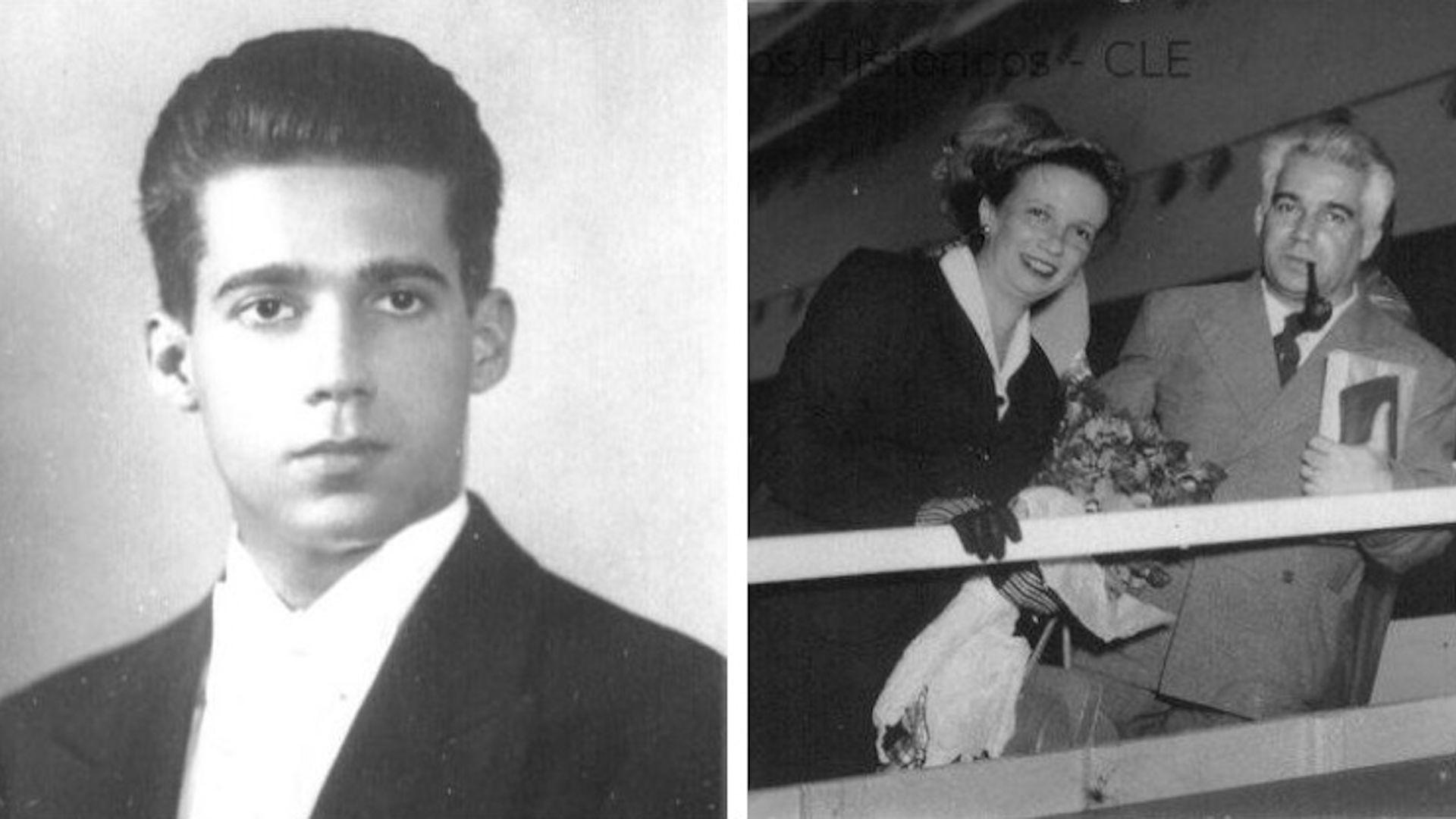 Joaquim da Costa Ribeiro em sua formatura (1928), e uma foto sem data do casal Costa Ribeiro (Acervo CLE/Unicamp)