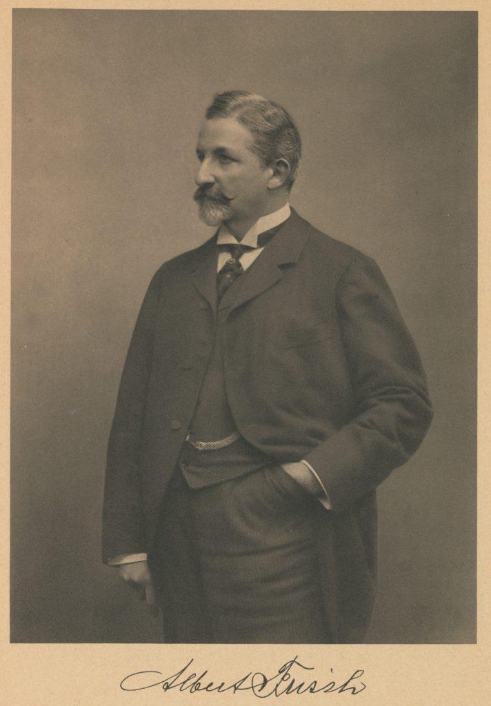 Retrato do fotógrafo Albert Frisch. Reprodução do livro Albert Frisch, Graphische Kunstanstalt, Druckerei und Verlag 1875-1925 / Acervo IMS