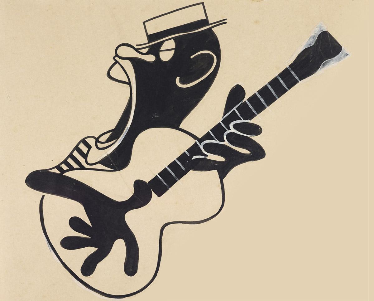 Vinheta de J.Carlos publicada na revista Careta, 1947. Original em grafite, nanquim e guache sobre papel. Coleção Eduardo Augusto de Brito e Cunha / Acervo IMS