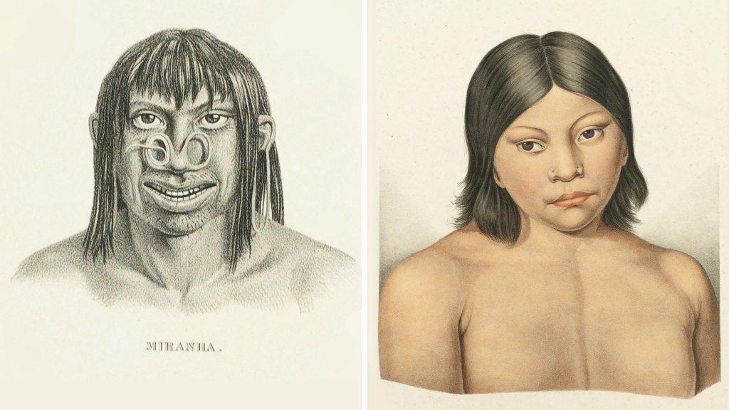 Índios miranha. Carl Friedrich Philipp von Martius. Coleção Martha e Erico Stickel / Acervo IMS