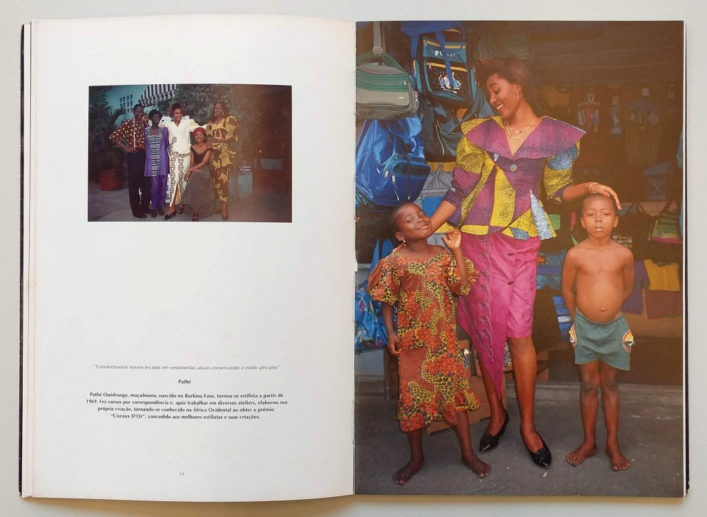 Páginas de <em>África: moda, cultura e tradição</em>, de Maureen Bisilliat, que integra a exposição <em>Indumentárias negras em foco</em>