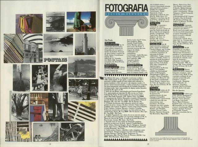 Coluna de Rosely Nakagawa na <em>Novidades Fotoptica</em>, n. 122, 1985. Acervo da Biblioteca de Fotografia/ IMS. © Thomaz Farkas Estate Comércio de Obras de Arte Ltda.