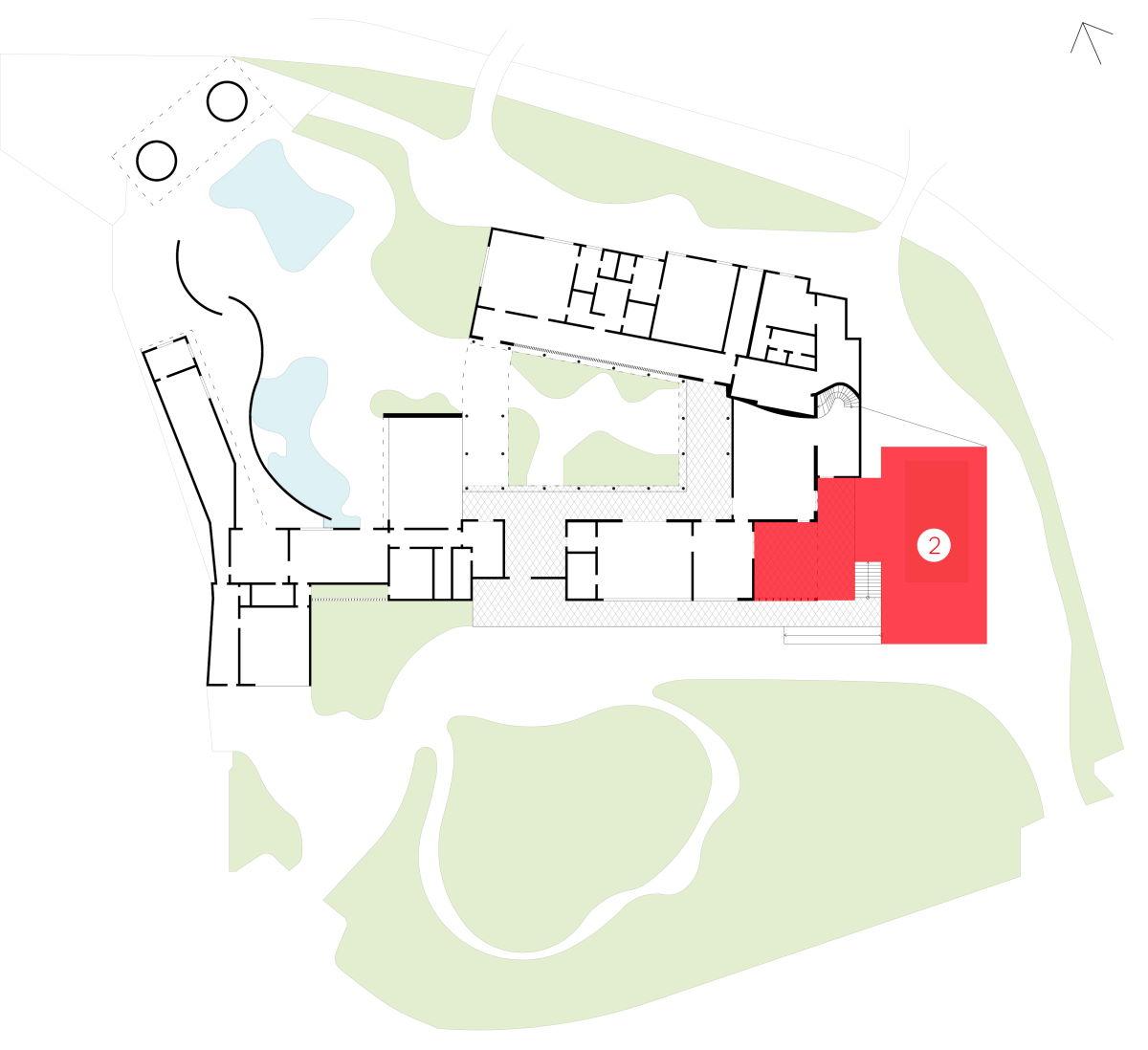 Cobogó e Jardim geométrico