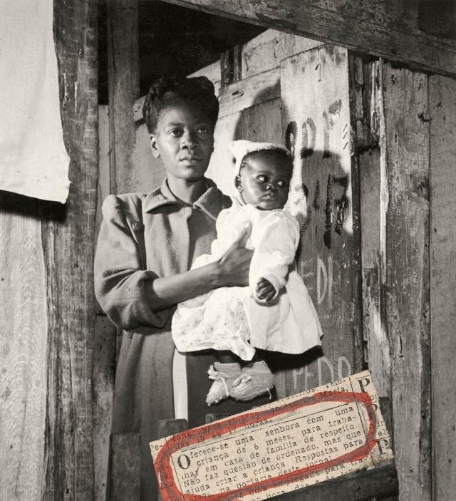 """Na matéria """"Uma história de sobreviventes"""", com texto e fotos de sua autoria (<em>O Cruzeiro</em>, 14-10-1950), Luciano Carneiro faz uma forte denúncia sobre os índices de mortalidade infantil, de mais de 80% em crianças até 3 anos de idade, na favela carioca da Praia do Pinto, no Leblon, confrontando na reportagem esta situação com uma creche para crianças da classe média do bairro. Acervo Jornal <em>Estado de Minas</em>/Revista <em>O Cruzeiro</em>"""