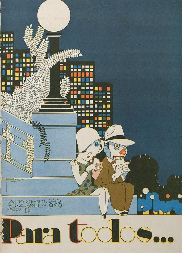 Ilustração de J. Carlos na capa da revista <em>Para Todos...</em>. edição de 20.04.1929. Coleção Eduardo Augusto de Brito e Cunha/  Instituto Moreira Salles